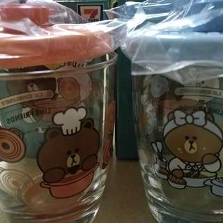 7-11 Le Creuset x Line friends 碰碰杯 2個