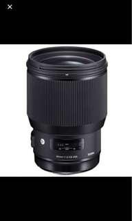 Sigma art 85mm f1.4 for NIKON + warranty