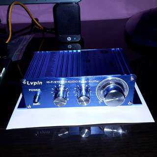 (Brand New) Lvpin A6 75Wx2ch (150W) Portable Class-D Stereo Amplifier (PHILIPS Chip) - $35