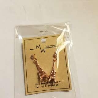 Eiffel tower earrings (rose gold)