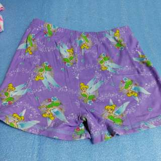 85% Disney size 7 Tinker bell short, 7 year old