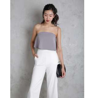 Thetinselrack Karma Cropped Top in Lilac Grey