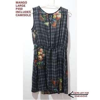 Mango Printed Floral/Checkered dress