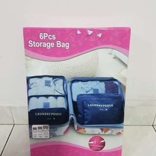 BN 6 pcs Travel Storage Bag (Laundry Pouch)