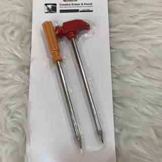 Miniso pencil screw and hammer
