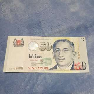 $50 Singapore note