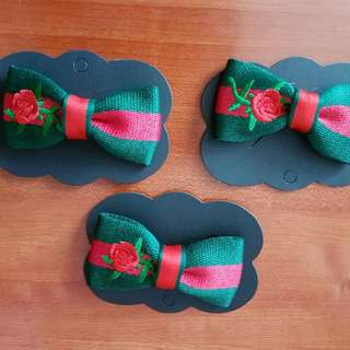 Handmade gucci bow ribbon brooch