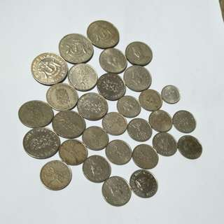 Brunei old coin 30pc