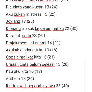 CLEARANCE OF MALAY NOVELS