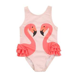 Orange Flamingo Swimsuit