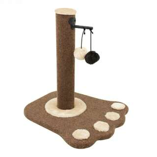(Po)Cat Scratching Pole with Interactive hanging balls