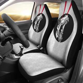 Raptor's Laser Eyes Car Seat Covers