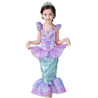 Children Dress Cosplay Halloween Mermaid 3-12y