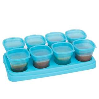 Autumnz Easy Breastmilk & Baby Food Storage Cups (2oz) - Ocean Blue