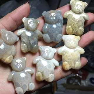 珊瑚玉小熊 隨機發