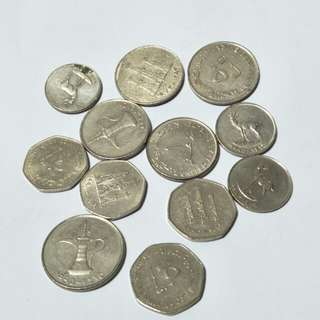 United Arab emirates old coin 12pc