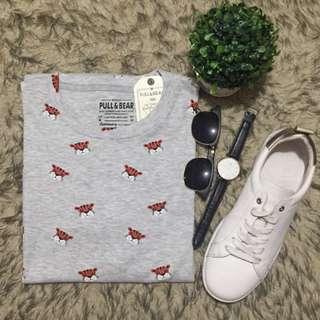 Grey tiger printed shirt