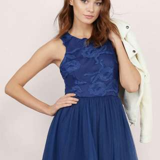 BNWT Cute Navy Skater Dress