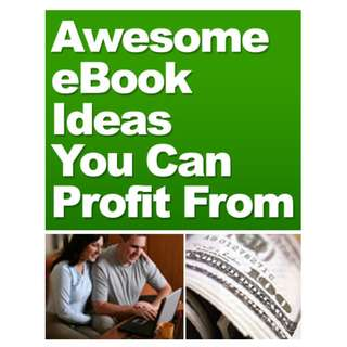 Awesome eBook Ideas You Can Profit From