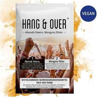 德國 Hang & Over 解宿醉沖劑 (vegan), 1 pack有兩小包×9g (11/3到港)