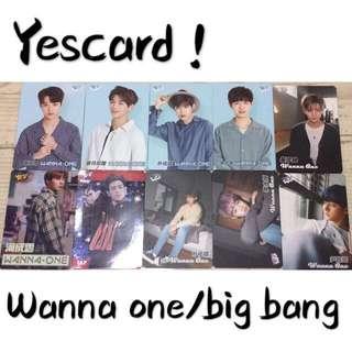 Yescard-Big Bang/wanna one