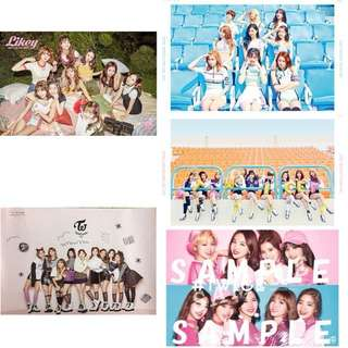 Twice Official Album and Twiceland Individual Posters
