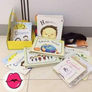 #ImlekHoki Buku bayi dan anak Rabbithole paket lengkap edisi lama (bukan reject)