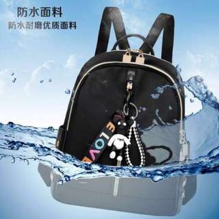 korean bagpack with keychain
