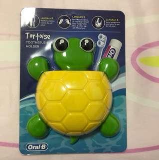 Tortoise toothbrush holder