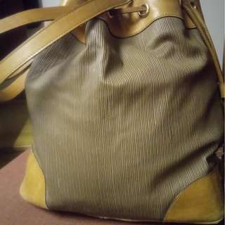 Vintage Salvatore Ferragamo Drawstring  Bucket Bag