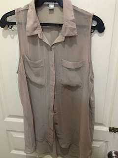 Forever 21 Mocha sleeveless blouse