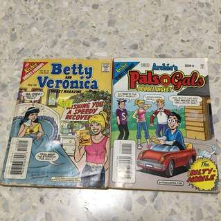 2 for $2 - Archie Comics Double Digest, Betty & Veronica