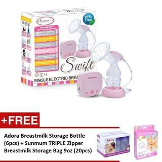 Autumnz SWIFT Single Electric Breastpump *FREE GIFT*