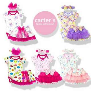 Carters 3pcs tutu set