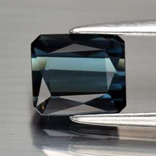 1.36ct Octagon Natural Indicolite Tourmaline - Certified