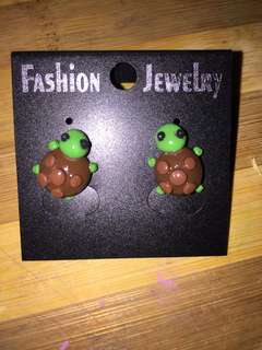 Polymer Turtle Stud Earrings