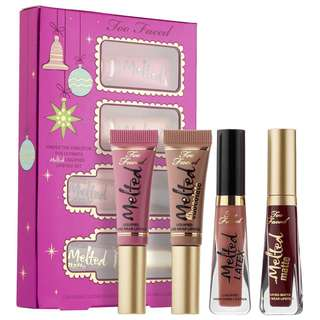 Too faced melted liquified lipstick set