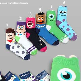 Toy Story / Monsters,Inc Socks
