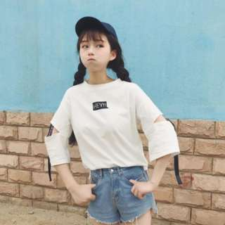 (PO) Ulzzang Hollow Hipster T-shirt