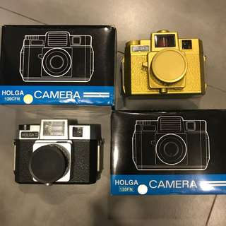 BNIB Holga Camera Gold / Black & Silver