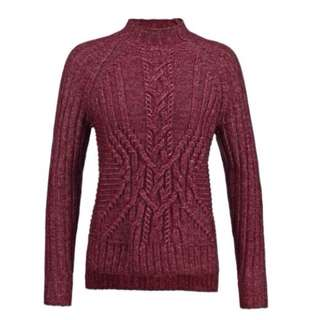 Burgundy/Maroon GAP Winter Sweater