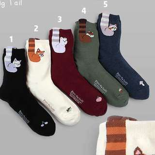 Animal Tail Socks