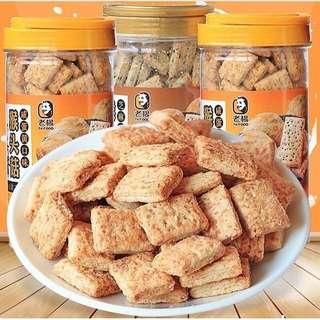 老楊 猴頭茹鹹蛋餅 鹹蛋/芝麻 370g×3