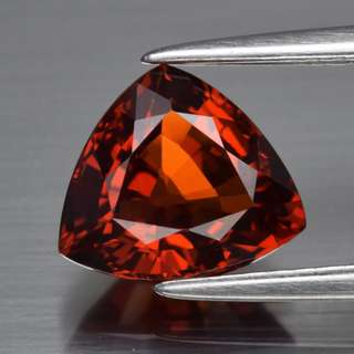 2.12ct Trillion Natural Orangish Red Spessartite Garnet