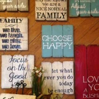 Special Custom Hand Made Wooden Sign for House Deco