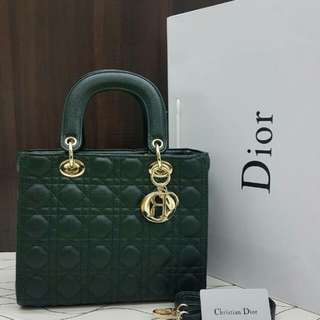 Lady Dior Medium Emerald Green