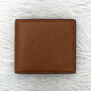 COACH MEN LEATHER WALLET - PLAIN