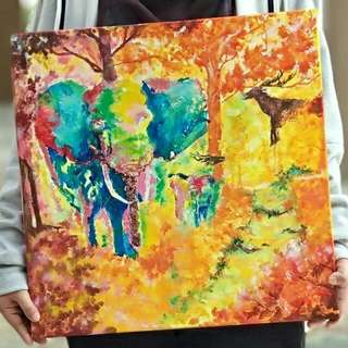 Handmade Artwork Canvas Nature Theme