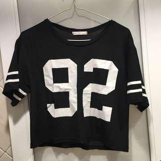 Made in Korea 黑色數字衣