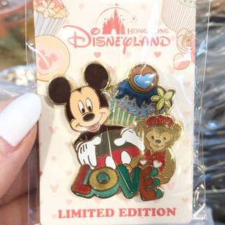 Hkdl duffy mickey valentines le pin
